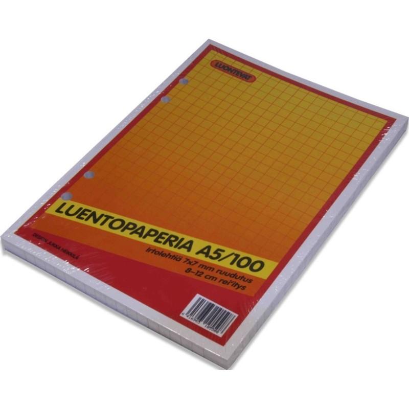 LUENTOPAPERI A5 100 LEHTEÄ  7x7 MM RUUDUTUS