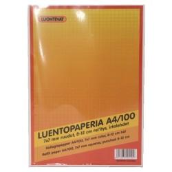 LUENTOPAPERI A4 100 LEHTEÄ 7X7 MM RUUDUTUS